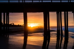 ventura california pier sunrise beach