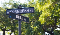 congress bull street sign