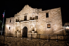 san antonio alamo mission night photography