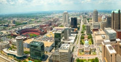 st louis missouri downtown panoramic